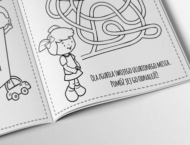 Projekt graficzny kolorowanek dla dzieciaków